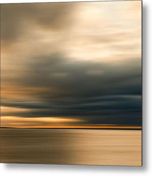 Impressionist Metal Print featuring the photograph Approaching Evening Storm by Bob Retnauer