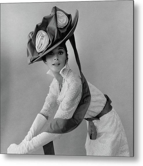 Actress Metal Print featuring the photograph Audrey Hepburn In Costume For My Fair Lady by Cecil Beaton