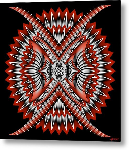 Abstract Metal Print featuring the digital art Bad Decisions New Start 3 by Brian Johnson