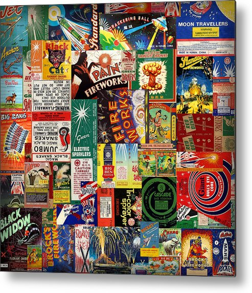 Fireworks Metal Print featuring the digital art Bang by Russell Pierce