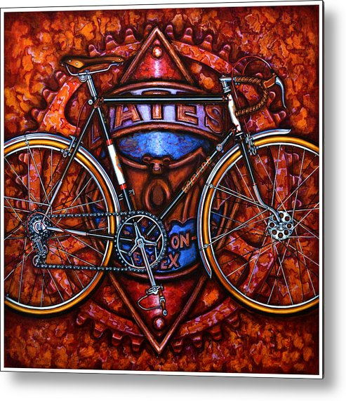 Bicycle Metal Print featuring the painting Bates Bicycle by Mark Howard Jones