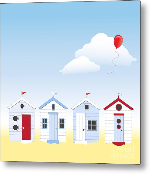 Angle Metal Print featuring the photograph Beach Huts by Jane Rix