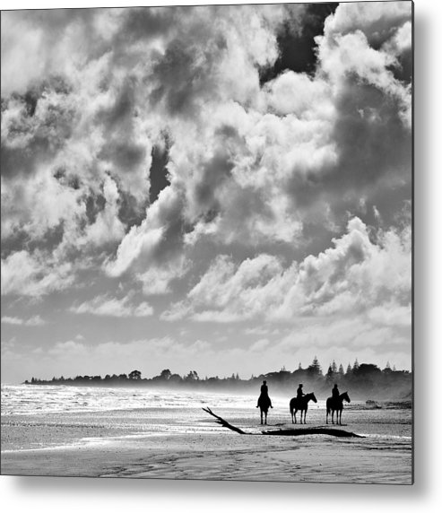 Ride Metal Print featuring the photograph Beach Riders by Dave Bowman