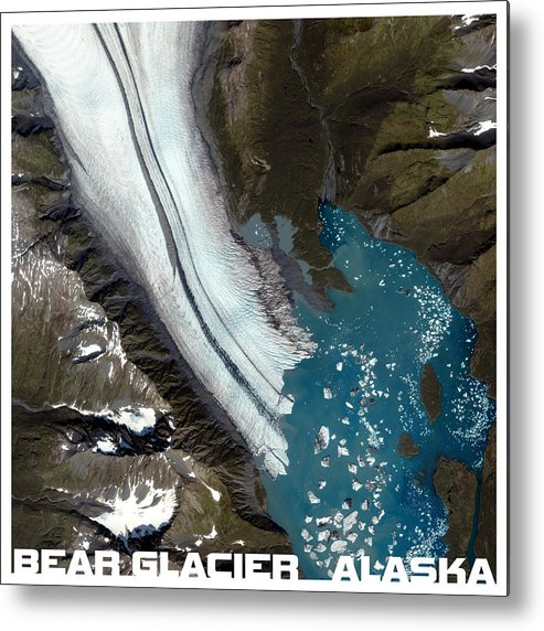Nasa Metal Print featuring the photograph Bear Glacier Alaska From Above by Theo Westlake