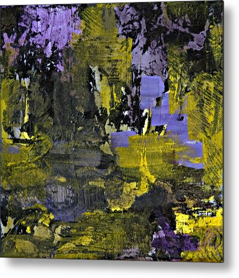 Abstract Metal Print featuring the painting Beneficial Bees 1 Of 2 by Jacqueline Milner