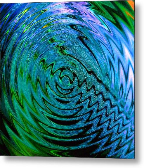 Digital Metal Print featuring the digital art Bermuda Blue by Michael Durst