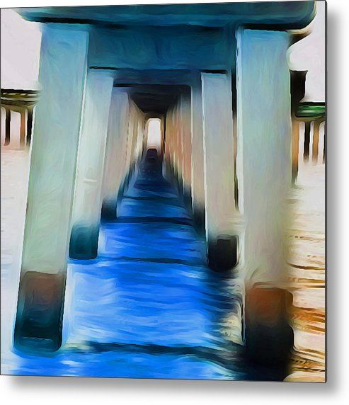 Ocean Metal Print featuring the photograph Beside The Cool Blue Waters by Jimi Bush