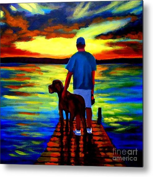 Best Friends Forever Metal Print featuring the painting Best Friends Forever by John Malone
