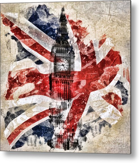 Big Ben Metal Print featuring the painting Big Ben by Mo T