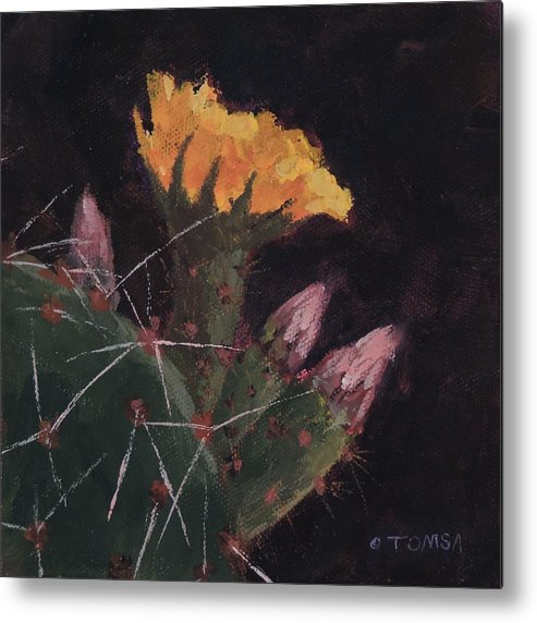 Art Metal Print featuring the painting Blossom And Needles - Art By Bill Tomsa by Bill Tomsa