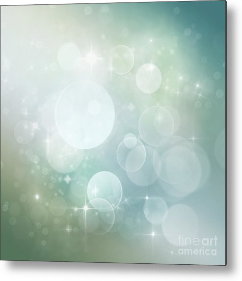 Metal Print featuring the digital art Bokeh Background by Mythja Photography