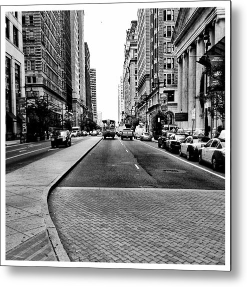 City Metal Print featuring the photograph Broad Street Philly by Shannon Prutzman