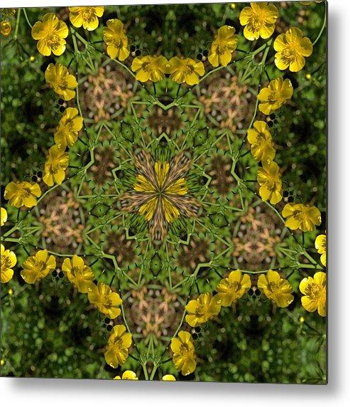 Kaleidoscope Metal Print featuring the photograph Buttercup Kaleidoscope by Valerie Kirkwood