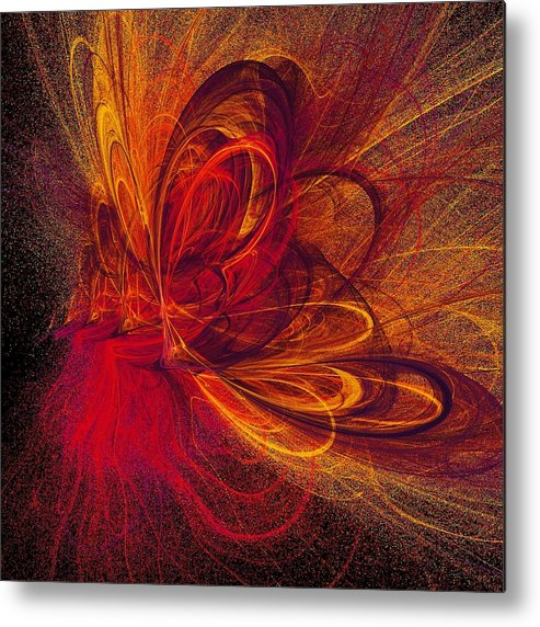 Abstract Butterfly Prints Metal Print featuring the digital art Butterfire by Sharon Lisa Clarke