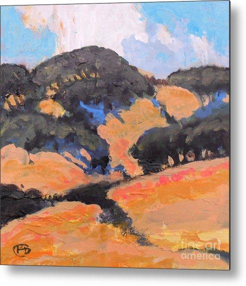 California Metal Print featuring the painting California Hills by Kip Decker