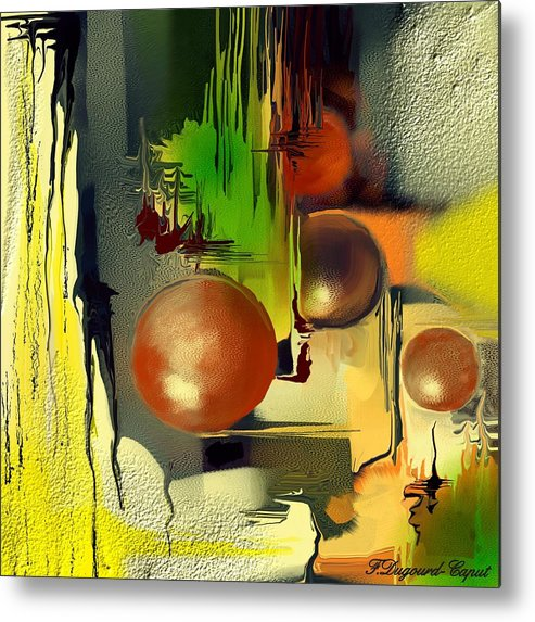 Abstract Metal Print featuring the painting Centaure by Francoise Dugourd-Caput