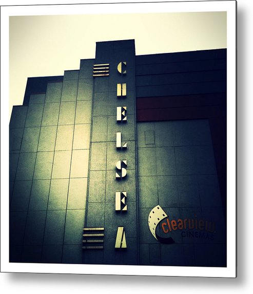 Chelsea Cinemas Metal Print featuring the photograph Chelsea Art Deco Blue by Natasha Marco