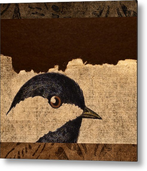 Chickadee Metal Print featuring the photograph Chickadee by Carol Leigh