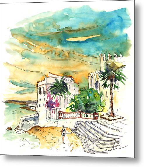 Travel Metal Print featuring the painting Chipiona Spain 04 by Miki De Goodaboom