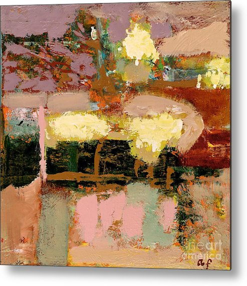 Landscape Metal Print featuring the painting Chopped Liver by Allan P Friedlander