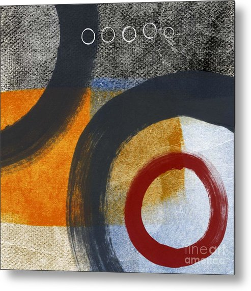 Circles Metal Print featuring the painting Circles 3 by Linda Woods