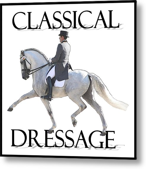 Classical Dressage Metal Print featuring the photograph Classical Dressage by CarolLMiller Photography