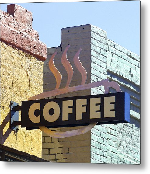 Coffee Shop Metal Print featuring the photograph Coffee Shop by Art Block Collections