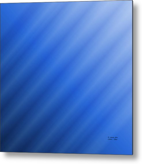 Colors Metal Print featuring the digital art Colors - Blue by James Ahn