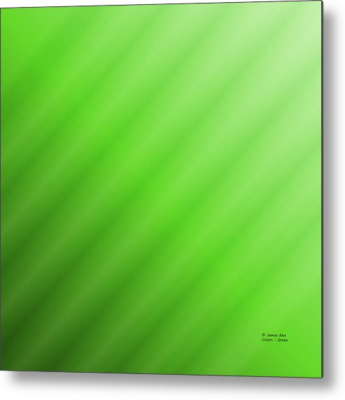 Colors Metal Print featuring the digital art Colors - Green by James Ahn