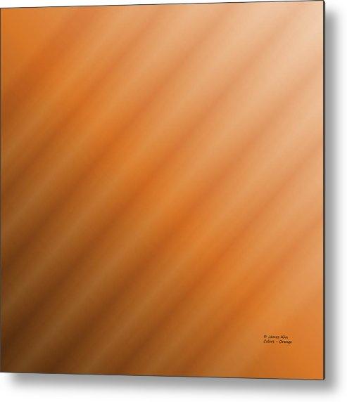 Colors Metal Print featuring the digital art Colors - Orange by James Ahn