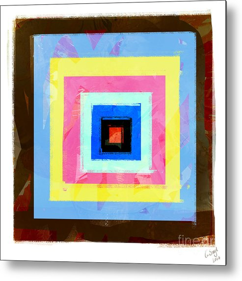 Abstract Metal Print featuring the digital art Coloured Squares Number 1 by George Sneyd