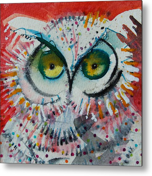 Moon Metal Print featuring the mixed media Confetti by Laurel Bahe