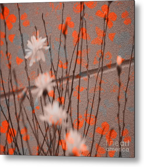 Butterfly Metal Print featuring the photograph Contemporary Art - Butterfly Kisses - Luther Fine Art by Luther Fine Art