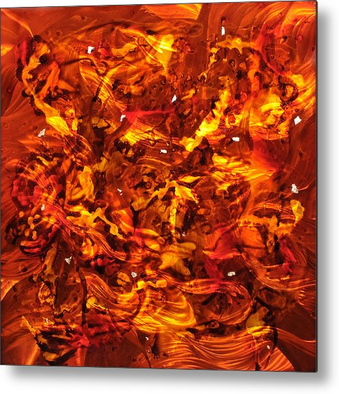 Metal Metal Print featuring the painting Creme Brulee by Rick Roth