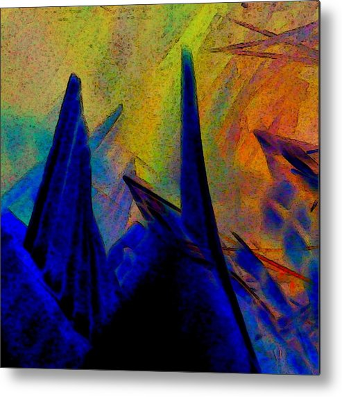 Crystals Metal Print featuring the digital art Crystals by D Preble