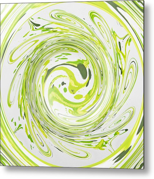 Green Metal Print featuring the painting Curly Greens II by Alli Cullimore