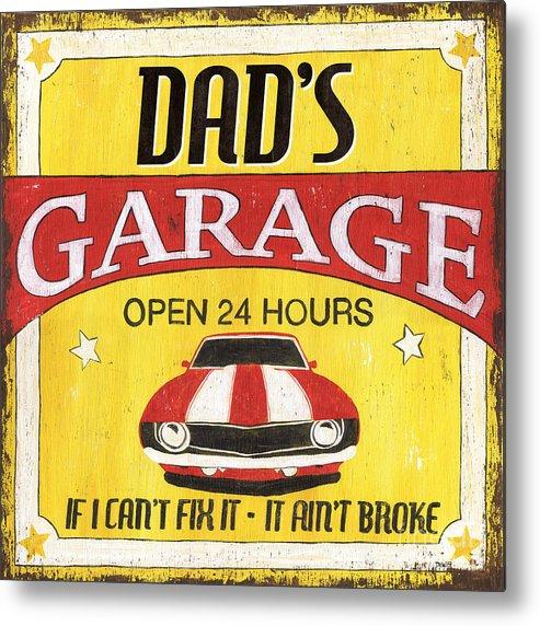 Dad Metal Print featuring the painting Dad's Garage by Debbie DeWitt