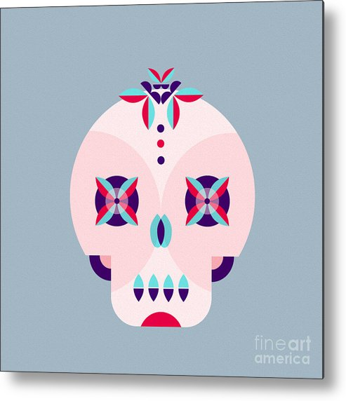 De Metal Print featuring the digital art Day Of The Dead Poster by Derenskaya