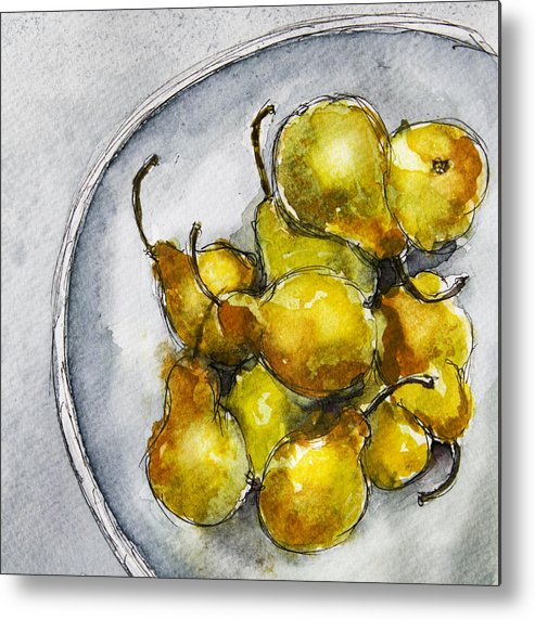 Pears Metal Print featuring the painting Delicious Pears by Linde Townsend