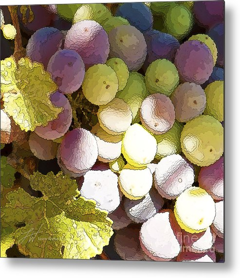 Grapes Metal Print featuring the painting Della Vite by Artist and Photographer Laura Wrede
