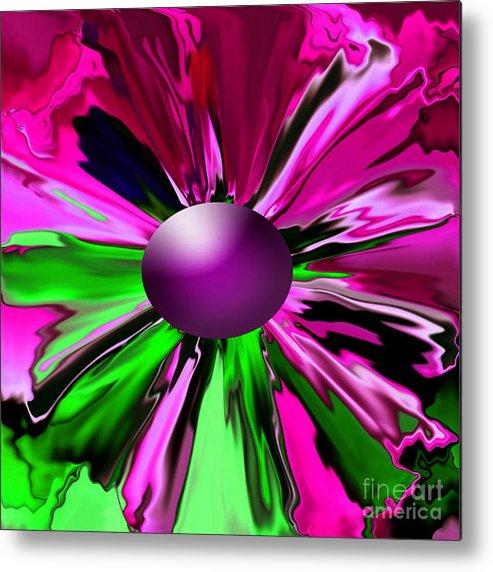 Digital Flower Abstract Poster Prints Metal Print featuring the digital art Digital Flower by Gayle Price Thomas
