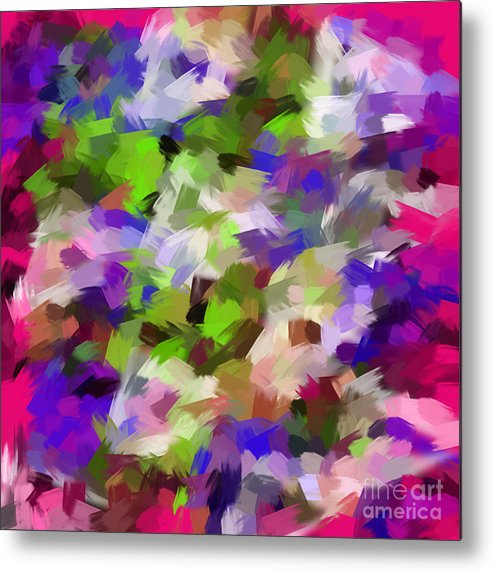 Digital Art Abstract Digital Touch Paint Metal Print featuring the digital art Digital Touch Paint by Gayle Price Thomas