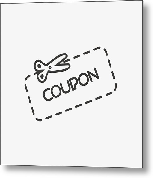 Discount Coupon Icon Metal Print