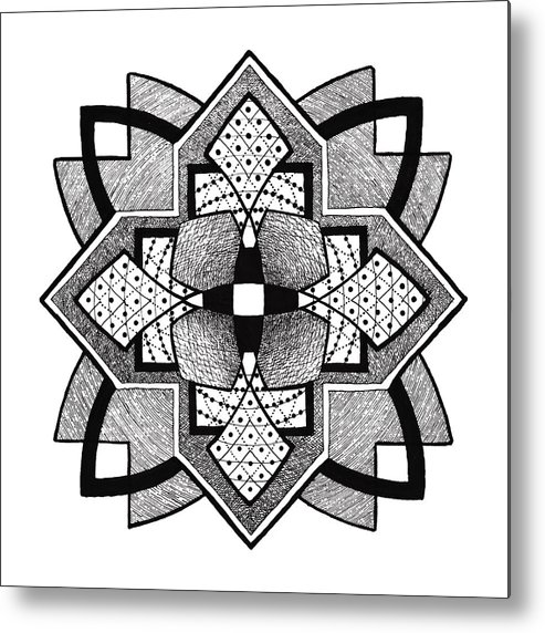Geometric Metal Print featuring the drawing Doodle 10 by Sherri Odegaarden