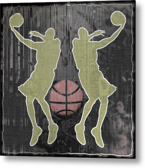 Basketball Metal Print featuring the digital art Double Hook by David G Paul