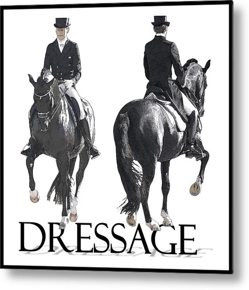 Dressage Metal Print featuring the photograph Dressage II by CarolLMiller Photography