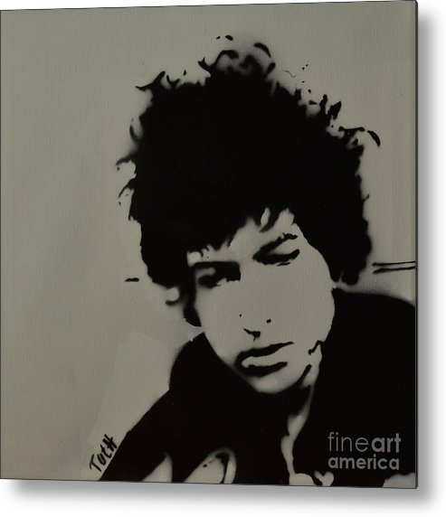 Dylan. Bob Dylan Metal Print featuring the painting Dylan Spray Art by Laura Toth