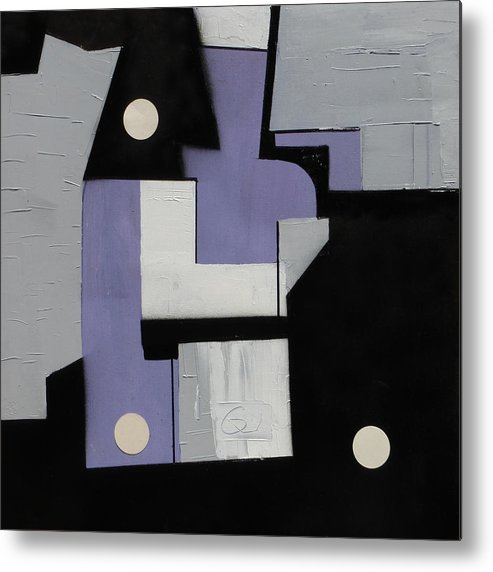 Cubist Metal Print featuring the painting Ema Ube Abstraction by Mark Fearn