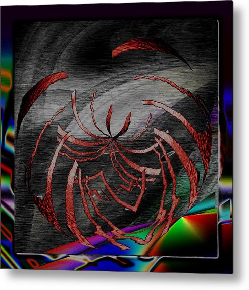 Abstract Metal Print featuring the digital art Enveloped 10 by Tim Allen
