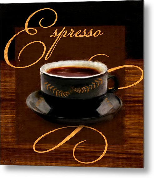 Coffee Metal Print featuring the digital art Espresso Passion by Lourry Legarde